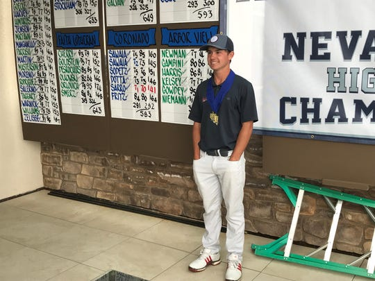 Coronado senior Michael Sarro won the boys 4A state golf tournament on Tuesday at Somersett Golf & Country Club.