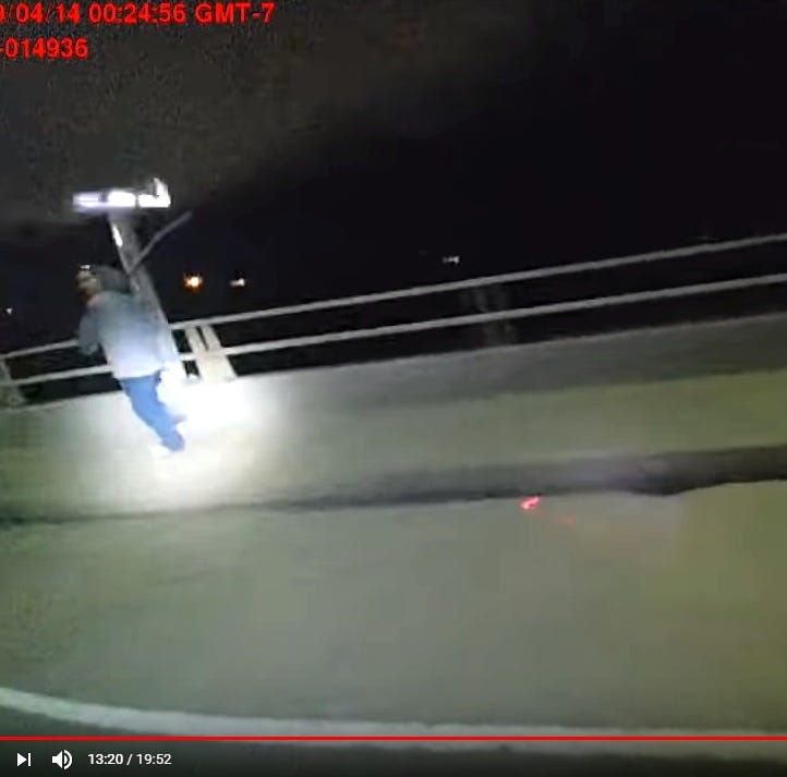 Red Bluff police video shows fatal shooting of man carrying large stick