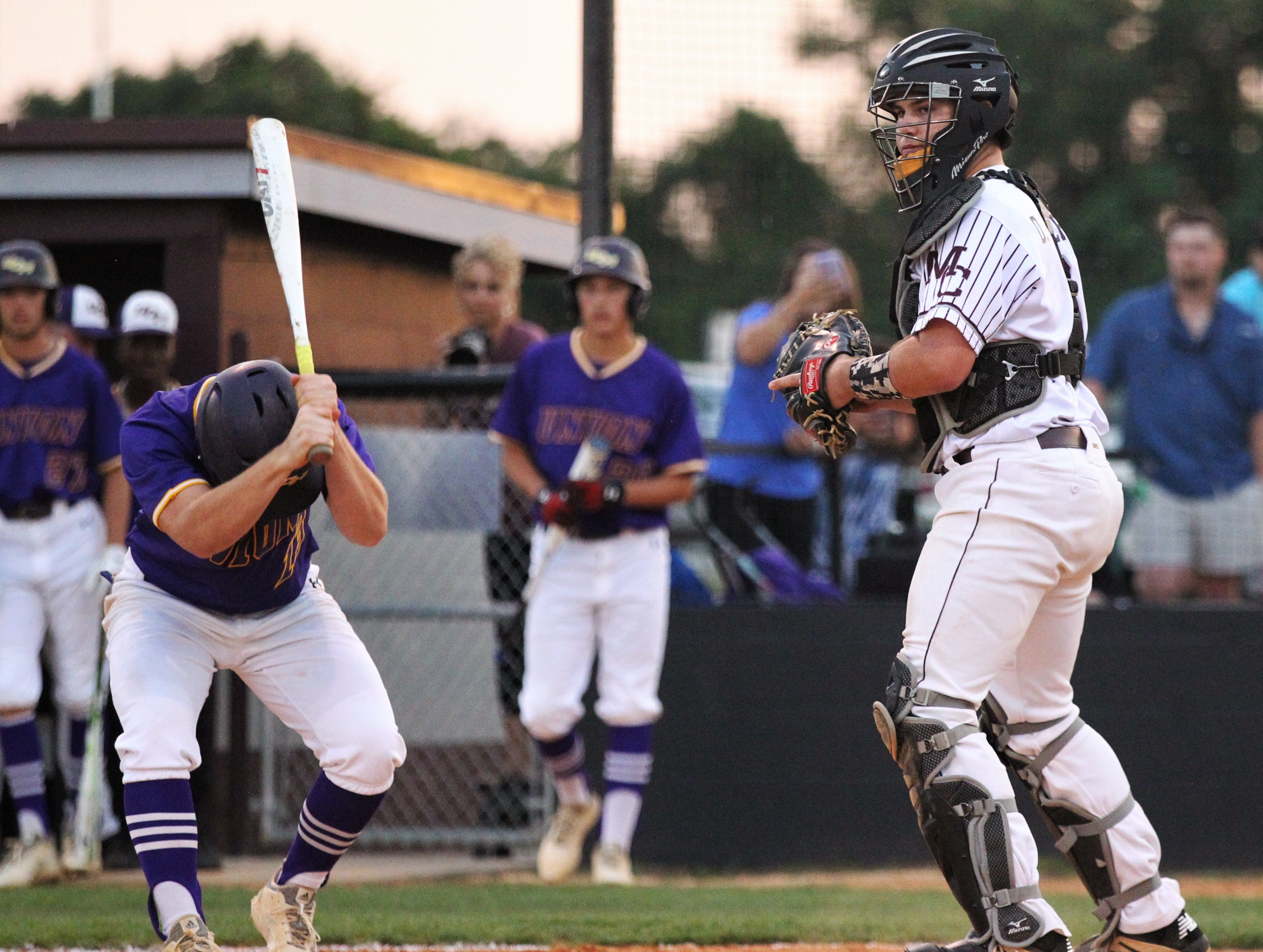 A Union County player reacts to striking out as Madison County beat Union County 1-0 during a Region 2-1A semifinal on May 14, 2019.