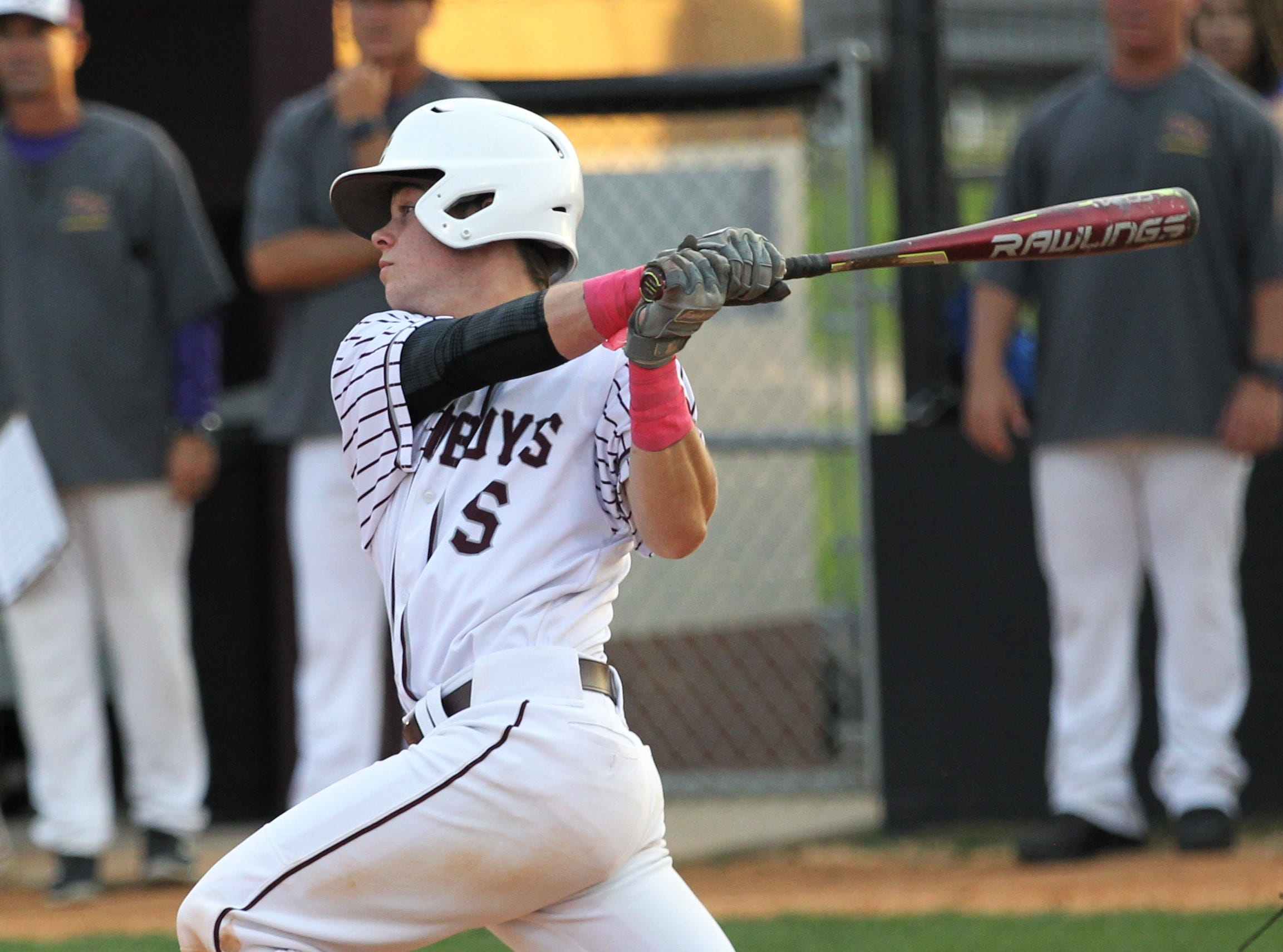 Madison County junior Sam Odiorne bats as the Cowboys beat Union County 1-0 during a Region 2-1A semifinal on May 14, 2019.