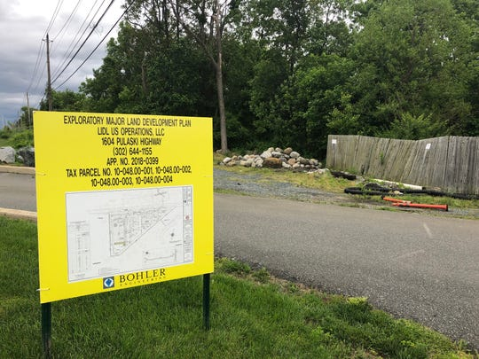 A view of the proposed site for Lidl's next Delaware location off Pulaski Highway and Salem Church Road.