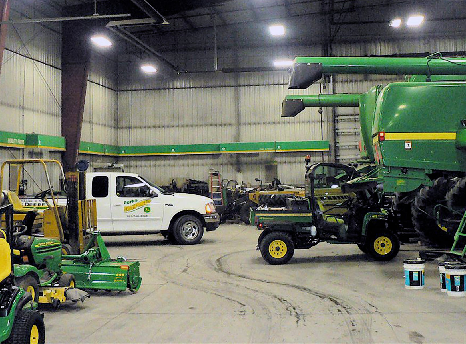 You need a big repair area to serve today's big equipment.