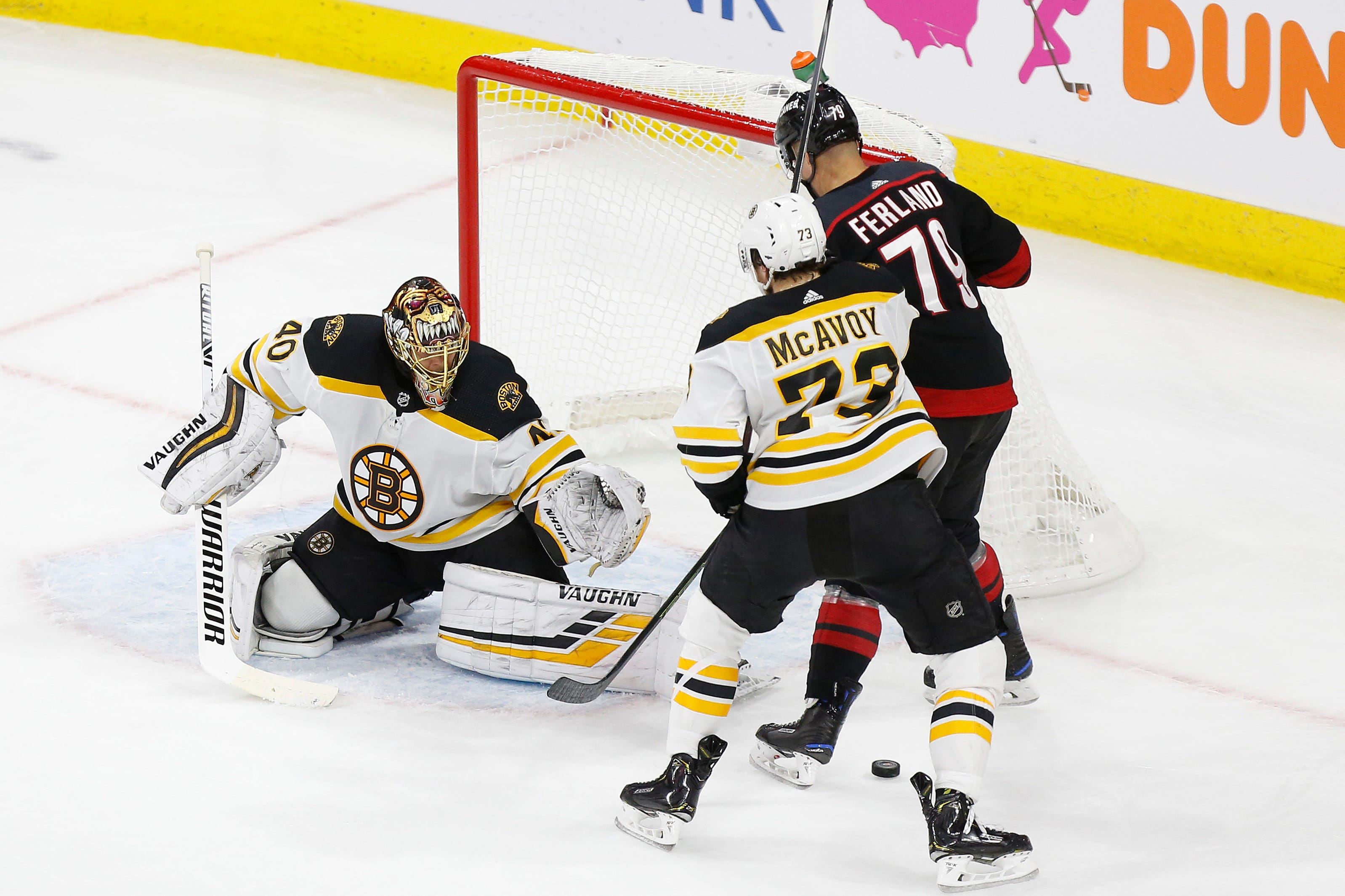 Bruins goalie Tuukka Rask brilliant in 2-1 victory that pushes Hurricanes to brink