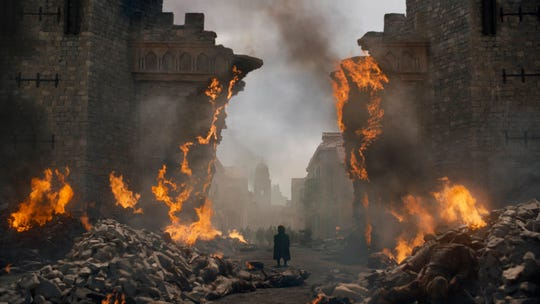 "Peter Dinklage in a scene from ""Game of Thrones"" after King's Landing was reduced to ashes."