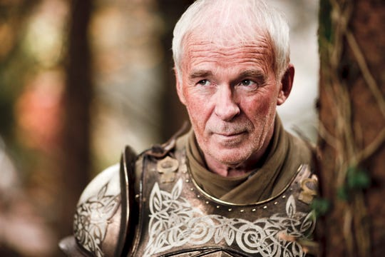 "Ian McElhinney in a scene from the HBO television series ""Game of Thrones."""