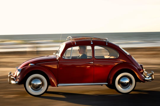 This 1967 Volkswagen Beetle was bought in 1966 in Riverside, California.  Owner Kathleen Brooks has driven it more than 350,000 miles and recently had it restored.