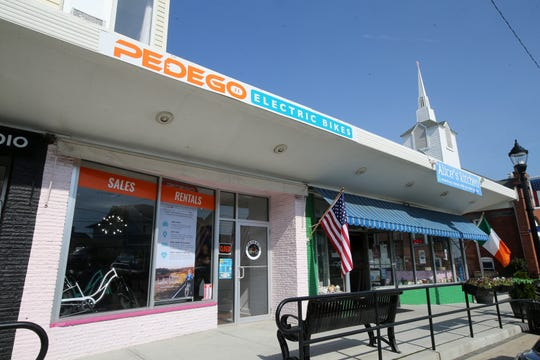 Adam Levine, owner of Pedego Electric Bikes, a four-year-old Spring Lake business that just opened a second store in Sea Bright on May 4th, talks about his business in Sea Bright, NJ Friday May 17, 2019.