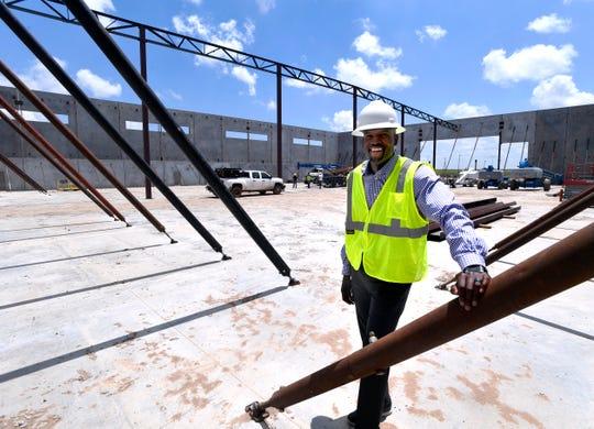 Brandon Osborne, executive director of Abilene Youth Sports Authority, at the organization's new facility under construction near the Abilene Zoo on Thursday.