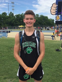 Mountain Heritage's Levi Higgins finished second in the NCHSAA 2A high jump on May 17