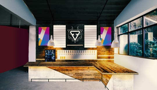 A rendering of Dssolvr's forthcoming bar area.