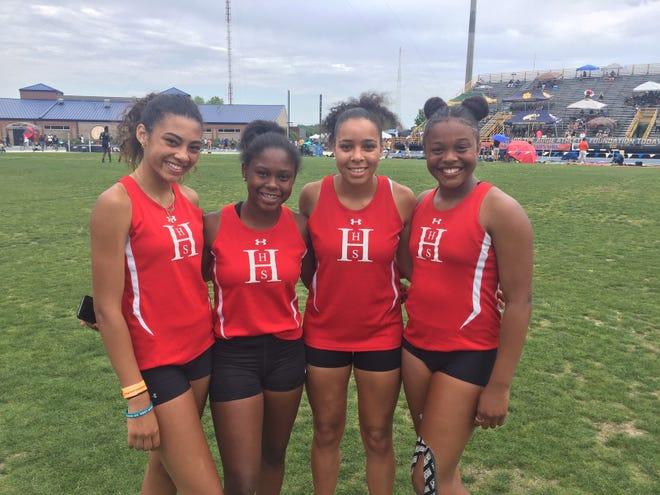 Hendersonville's 4x200 meter relay team