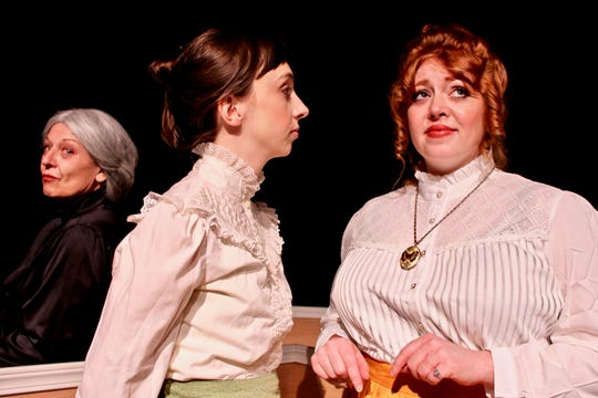 From left: DoriMay Ganisin (Anne Marie), Amy Crossman (Emmy) and Bevin Bell-Hall (Nora) star in 'A Doll's House, Part 2' at Chenango River Theatre.