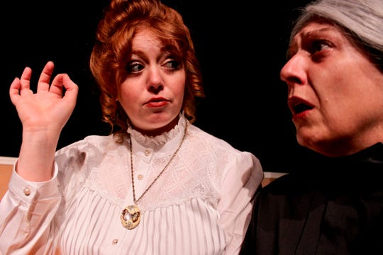 Bevin Bell-Hall (Nora) and DoriMay Ganisin (Anne Marie) star in 'A Doll's House, Part 2' at Chenango River Theatre.