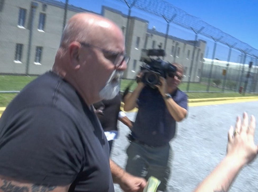 Dave Isnardi leaves the Brevard County Jail on Friday after being granted bond.