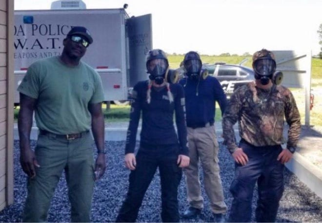 Cocoa Police Department appoints 26-year-old Sayge Gray as first woman SWAT officer.
