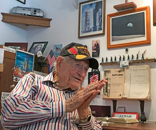 Ike Rigell, 96, NASA Deputy Director of Launch Vehicle Operations, lives in Titusville and still remembers every detail from the Apollo 11 mission.