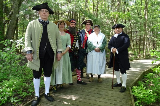 Jack Johnson, Julie Rossington, Bradley Harp, Mark Cory, Tami Cory and Tom Pappas will help bring history to life during Living History Days, May 31 to June 2 at Lowe-Volk Park, Leesville.