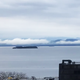 Low clouds drape the western shore of Lake Champlain on Friday, May 19, 2019.