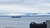 Time lapse: Low clouds give way to a western wind in Burlington, Vermont on Friday, May 17, 2019.