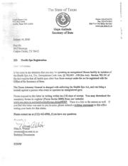 The Texas Secretary of State first notified Flex Fit in 2010 that the gym may be operating with out the proper registration.