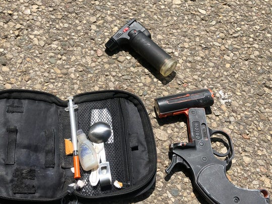 The Pike County Sheriff's Office reports a flare gun loaded with a shotgun shell and drug paraphernalia was among the items seized during the arrest of Willis E. Bowshier on May 16, 2019.