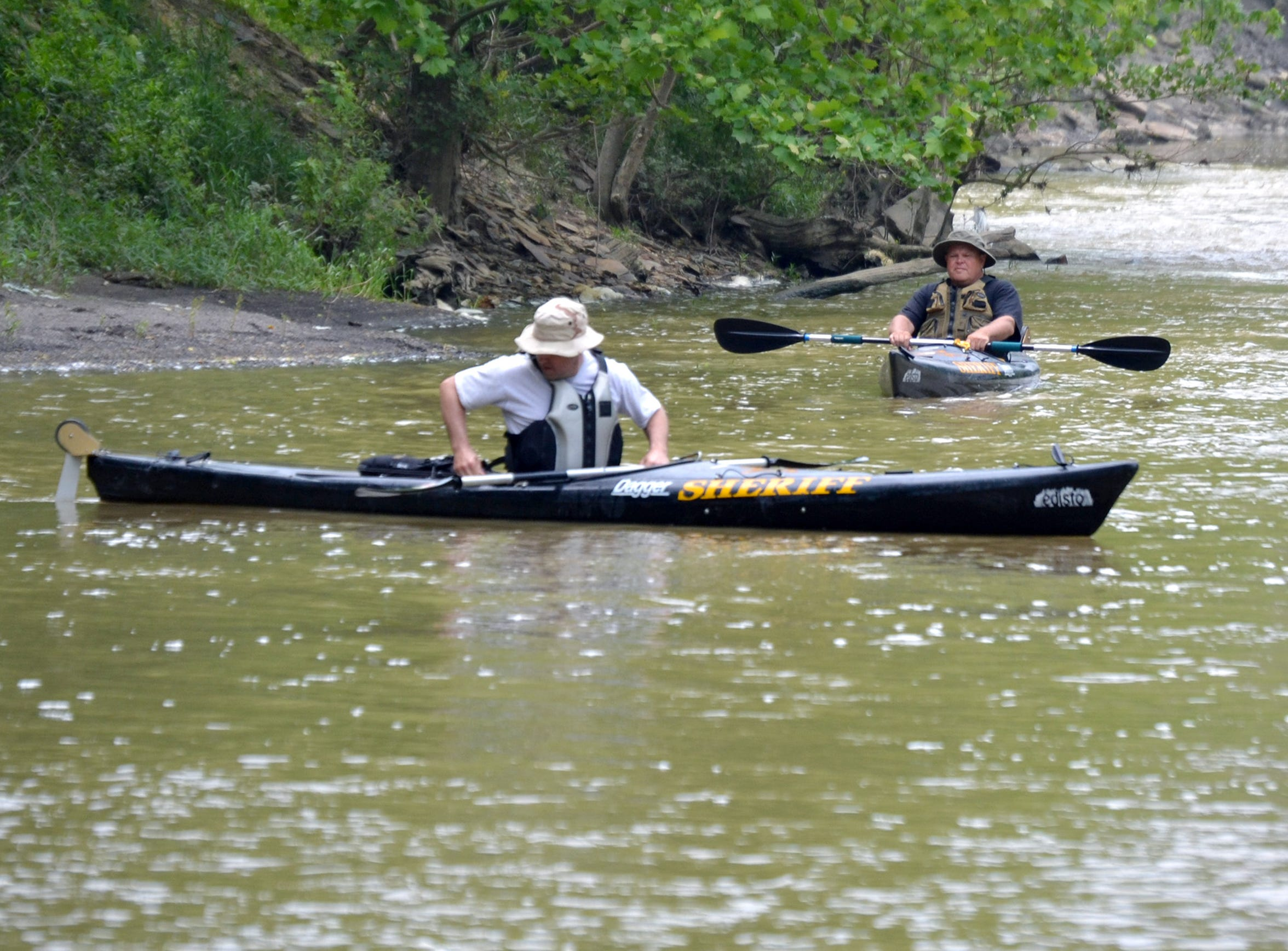 Ross County Sheriff's deputies search Paint Creek in May 2014 near Copperas Mountain off of Storms Road.