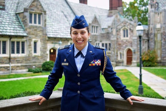 Taylor C. Liamero commissioned as a lieutenant in the U.S Air Force on Wednesday, May 22, received a bachelor's degree in communications from Rutgers University;