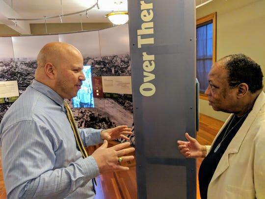 Fort Des Moines Museum and Education Center president Matt Harvey discusses the importance of the Phi Beta Sigma project being added to the museum's collection.