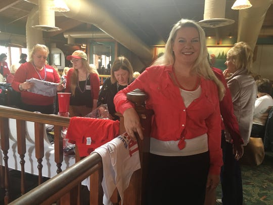 Meshawn Maddock, a Milford Republican,  is one of the leaders of a Women for Trump group that is holding lunches around the state to drum up enthusiasm for the 2020 election cycle.