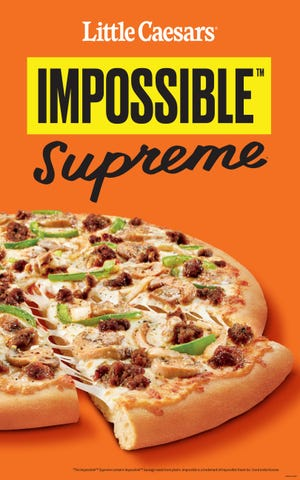 Little Caesars Impossible Supreme pizza