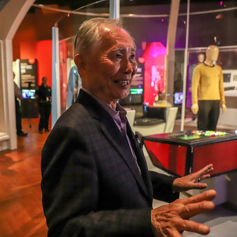 George Takei drops by 'Star Trek' exhibit at Henry Ford Museum before Motor City Comic Con
