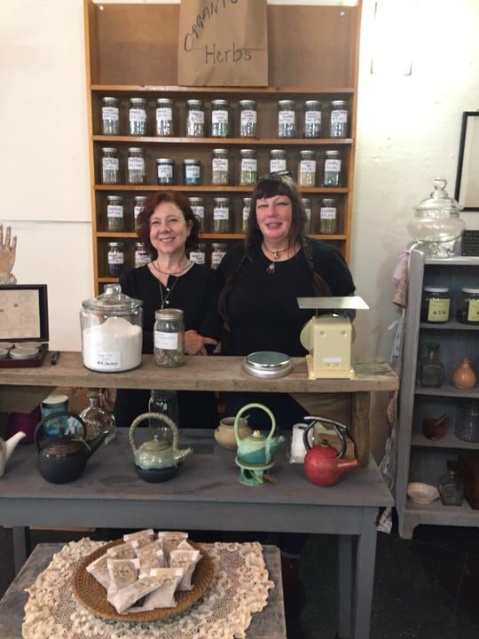 Susan Santer (left) and Monique Given at the Luckenbooth on Michigan Avenue on the edge of Corktown. Photo taken May 17, 2019.