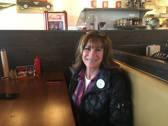 "Diane Smith of Novi was a lifelong Republican until Donald Trump ran for president. Since 2016, she's left the Republican Party and become incredibly active in Democratic politics. She likes wearing a button that reads ""Make America Kind Again."""