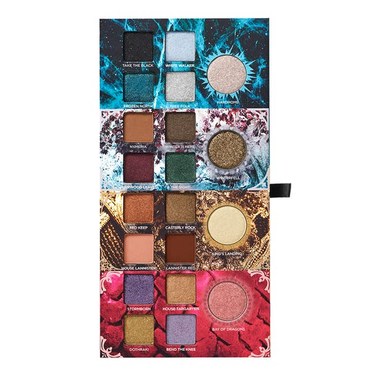 "This product image released by HBO shows Urban Decay's new makeup collection inspired by the HBO series ""Game of Thrones."""