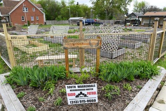 A community garden has been established on Minock Street in Warrendale.