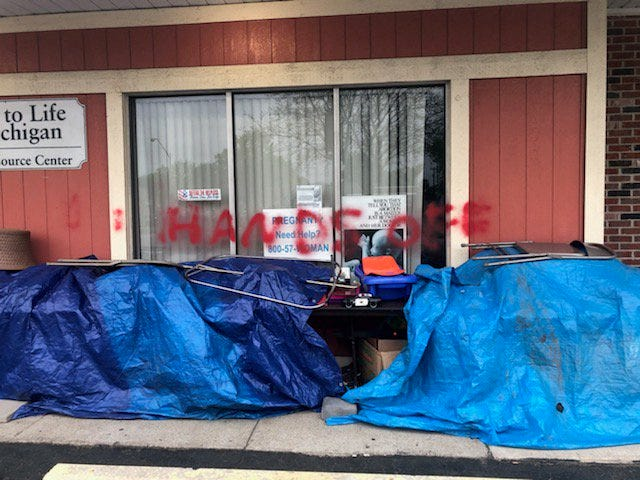 Officials who work at the Wayne County Educational Resource Center said the vandalism was first seen by a worker approaching the facility at 7 a.m. Friday.