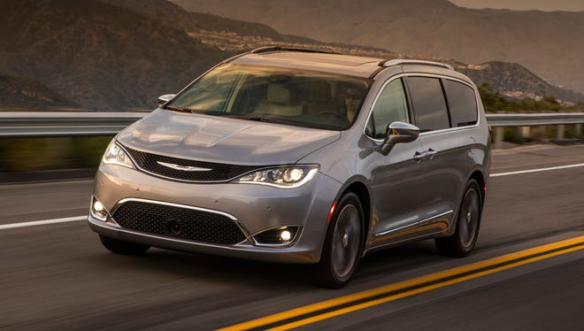 Fiat Chrysler is recalling over 208,000 minivans in North America because they could lose power-assisted steering or engines can stall. The recall covers certain Chrysler Pacifica minivans from the 2017 through 2019, shown.