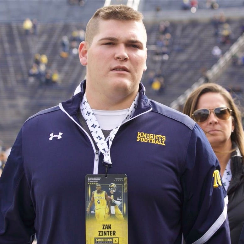 Four-star offensive tackle Zak Zinter commits to Michigan