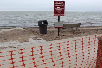Port Clinton city officials declared a state of emergency Thursday after high water and pounding waves caused significant beach erosion.