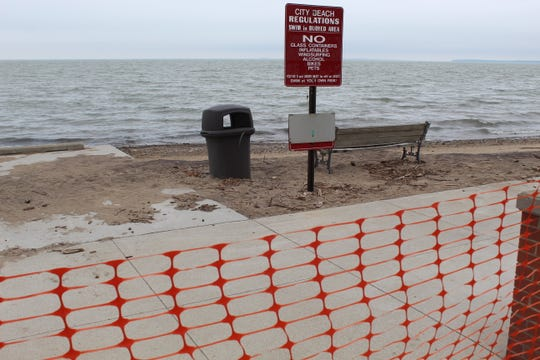Port Clinton City Beach is closed until further notice after Mayor Mike Snider declared a state of emergency Thursday. High water levels and pounding surf action have caused severe erosion along the city's entire shoreline.
