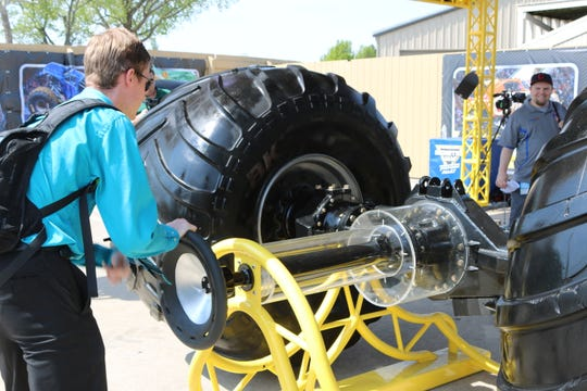The new Monster Jam Thunder Alley exhibit at Cedar Point offers a lot of interactive activities.