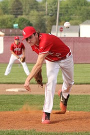 St. Joseph Central Catholic's Brody Deck throws a pitch.