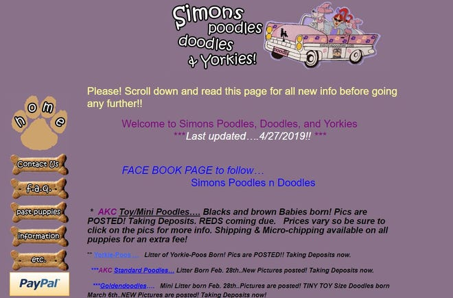Simns Poodles, Doodles & Yorkies! was cited for not having a proper AKC license to ship puppies to buyers, had missing veterinarian records and did not label medication.