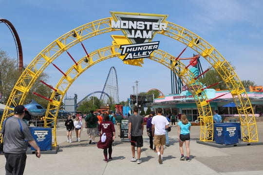 Access to Monster Jam Thunder Alley is free with regular admission to Cedar Point.