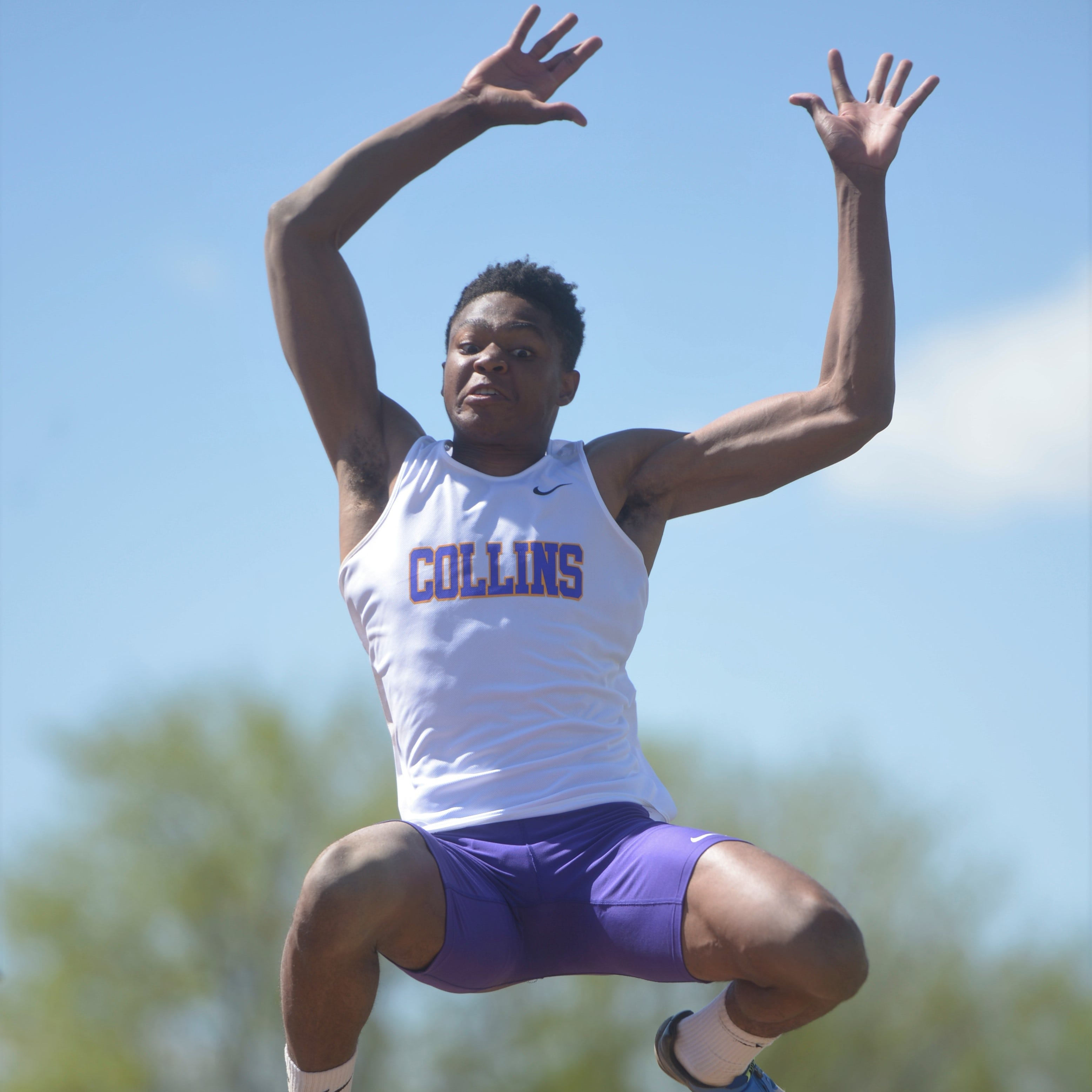 Micaylon Moore cements spot among Fort Collins' track greats with 2nd long jump title