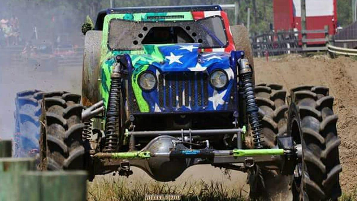 Muddy Muddy Christmas Lakeland Mudhole 2020 Dirty Mudder Truckers stars Fort Myers mega truck racer Chris