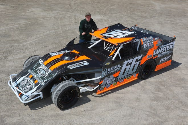Oconto Falls' Cole Magnin has gone from drag racing snowmobiles to wheeling IMCA northern sportmods on area dirt ovals.