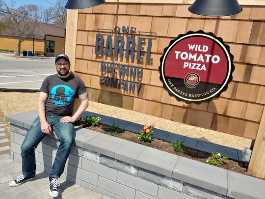 One Barrel Brewing Co. founder and president Peter Gentry outside the craft brewery's new tap room in Egg Harbor, which opens May 23.