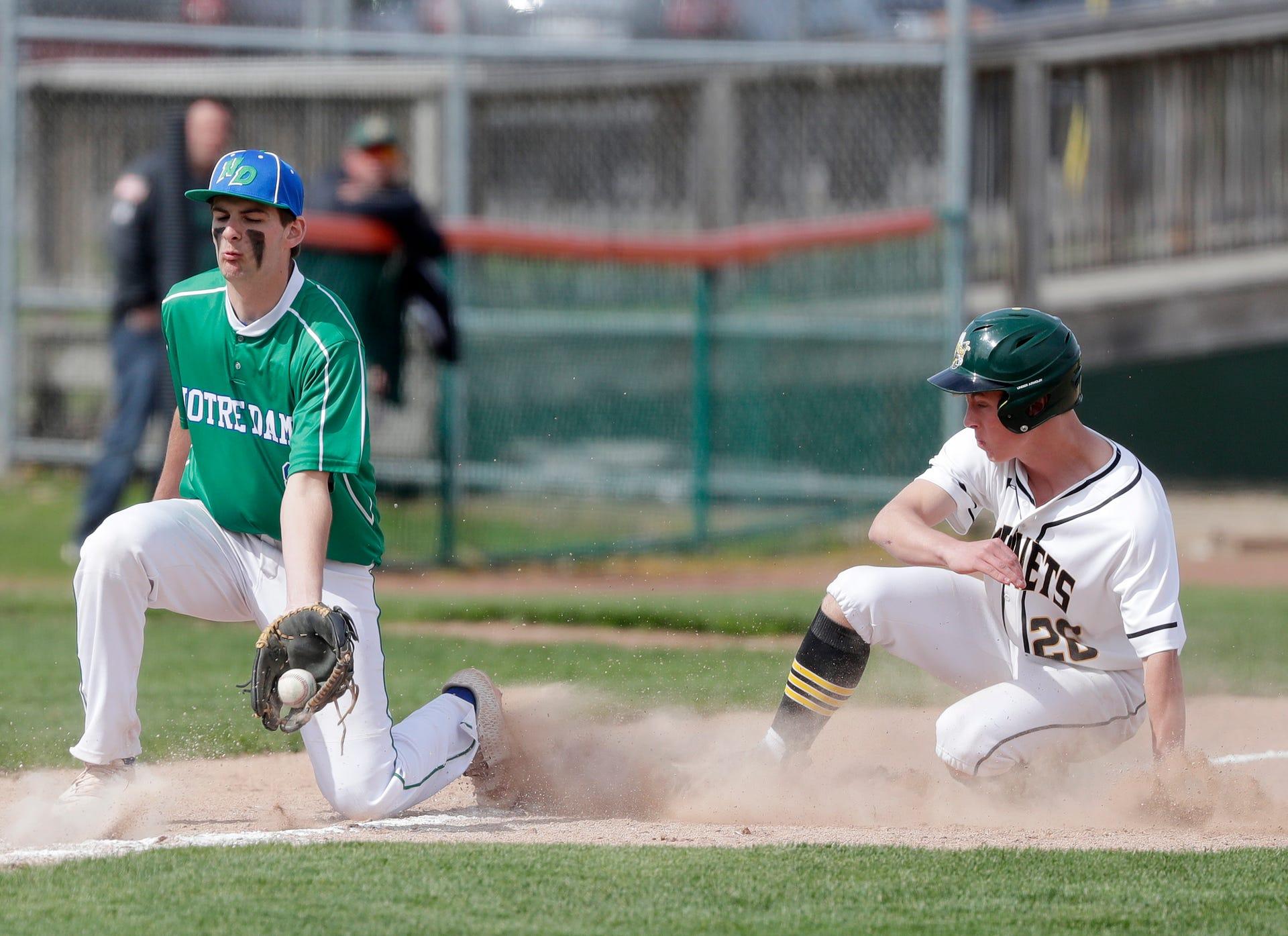 new style 8fda3 1b98e Photos: Green Bay Preble vs Notre Dame baseball