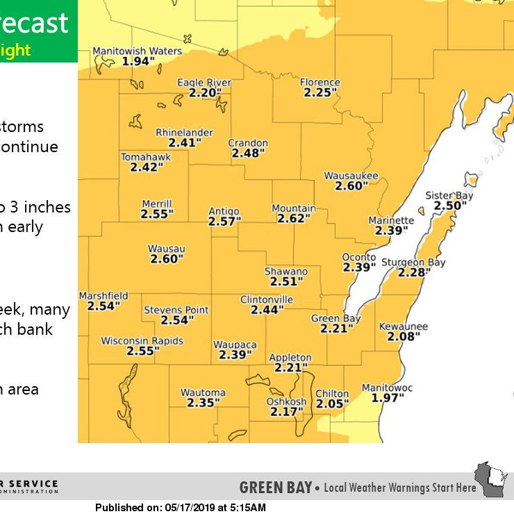 Expect heavy rainfall across Wisconsin this weekend